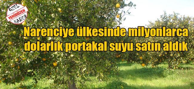 6 Ayda 5 Milyon Dolarlık Portakal Suyu İthalatı