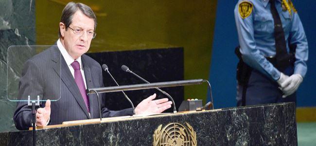 Anastasiadis BM Genel Kurulu'nda konuştu