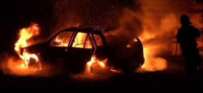 Kanlıköy yolunda araç yangını