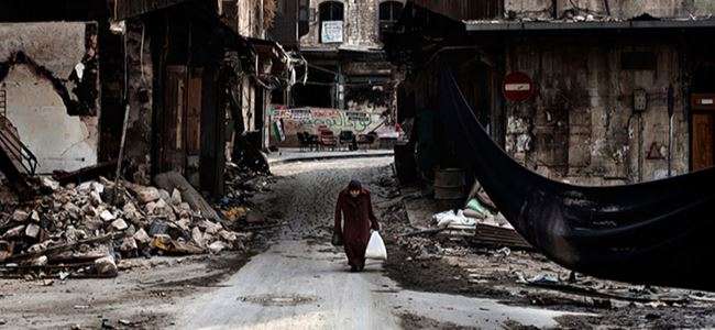 Suriyede bayram sabahı savaş bombardımanı