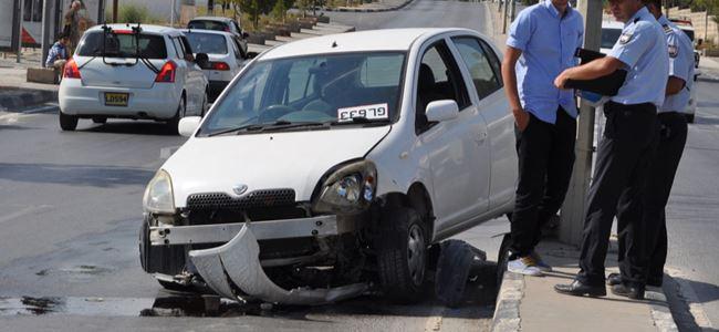 Hastane önündeki kaza korkuttu