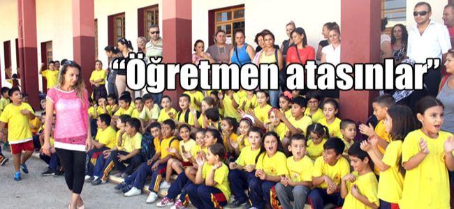 Mağusada velilerle öğrenciler eylem yaptı