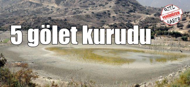Yağışlar göletleri kurtarmaya yetmedi