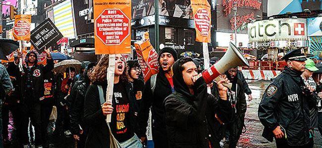 ABDde polis şiddetine protesto