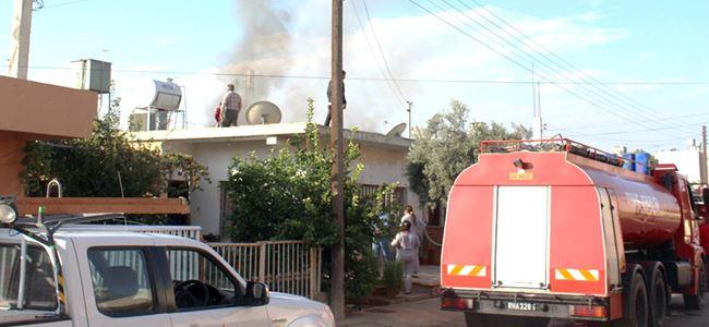 Aşırı elektrik yüklenmesinden yangın çıktı