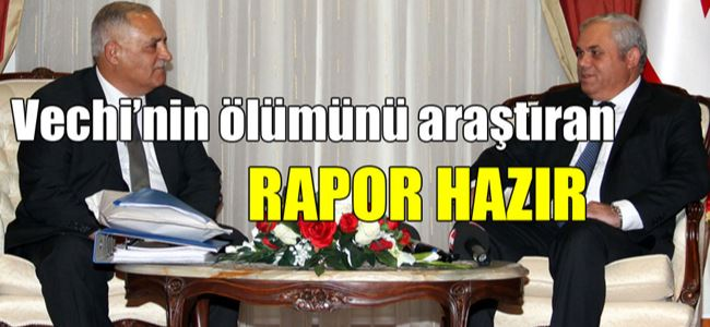 Komite raporu Başbakan Yorgancıoğluna sundu