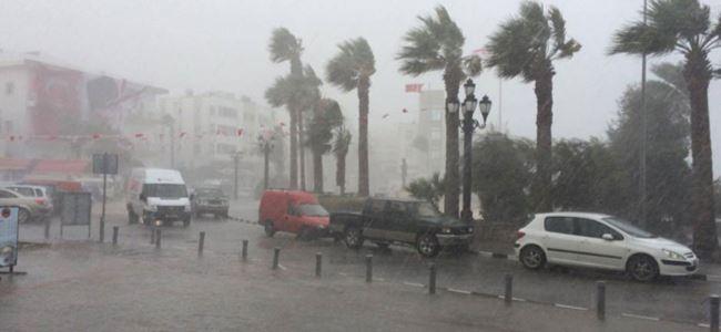 Yağmur Girne ve Mağusa'da etkili oldu