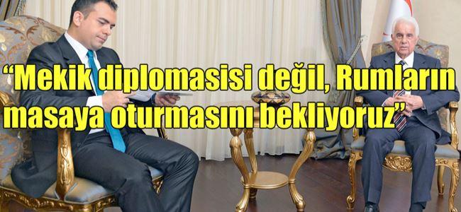 Cumhurbaşkanı Eroğlu açıklama yaptı