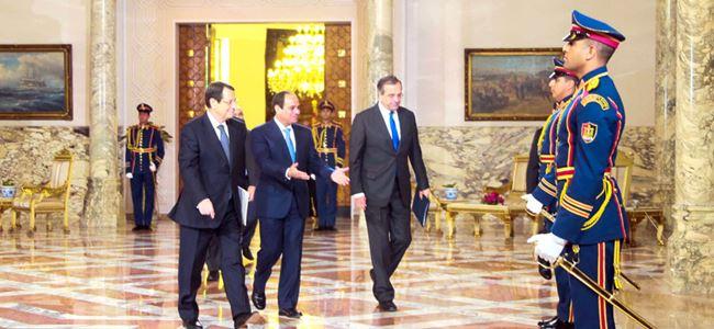 Sisi, Samaras ve Anastasiadis ile bir araya geldi…
