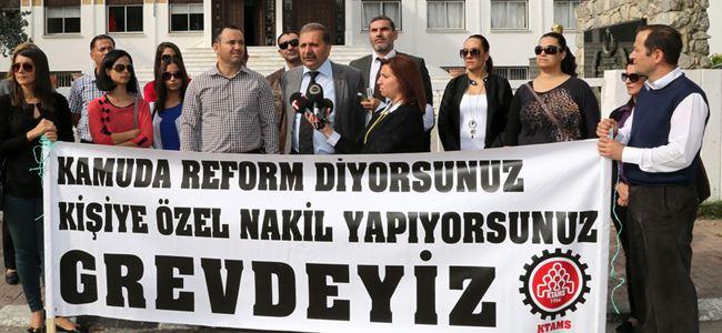 KTAMS meclis önünde eylem yaptı.