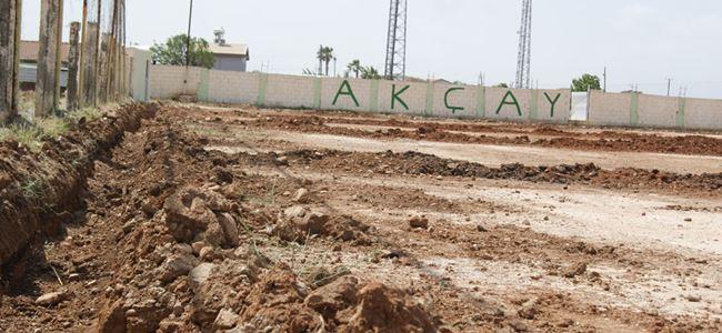Akçay Stadı çimlenecek