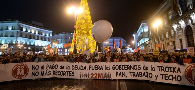 İspanyada halk sokağa döküldü