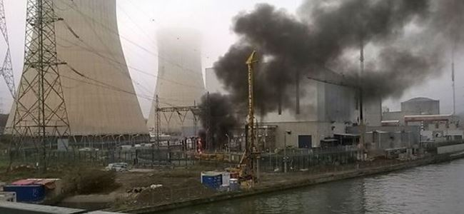 Nükleer santralinde yangın!