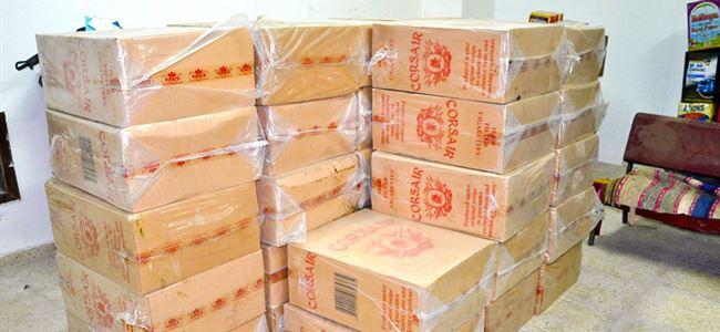 16 bin paket sigarayı çalarken yakalandılar…