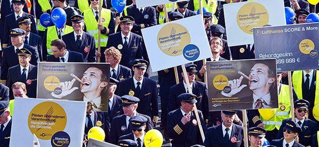 Lufthansada grev devam edecek