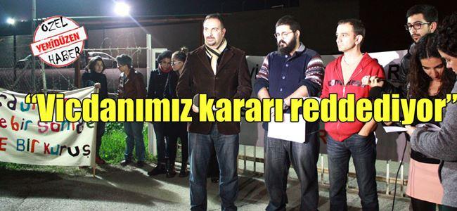 Mahkeme kararı protesto edildi