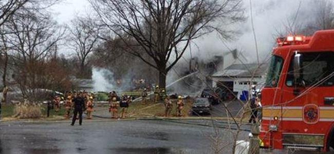 Uçak evin üzerine düştü... 6 kişi hayatını kaybetti