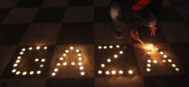 Gençlerden Gazzeye destek eylemi