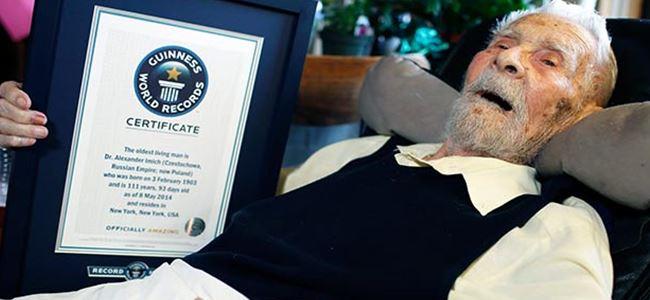 ABDnin en yaşlı erkeği öldü