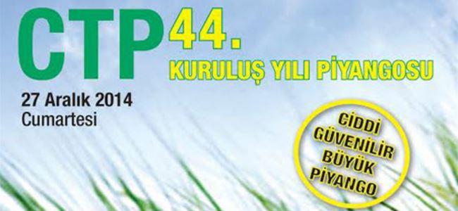 CTP Piyangosu yarın çekiliyor