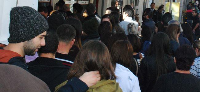Lokmacı'da hafta sonu kalabalığı