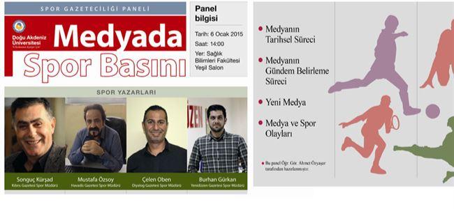 """DAÜ'de """"Medyada Spor Basını"""" konuşulacak"""