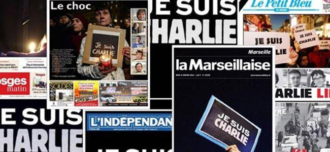 Fransa'da tek manşet: Hepimiz Charlieyiz