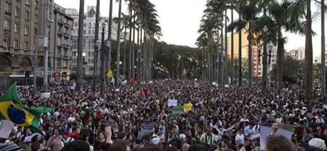 Brezilyada ulaşım zammına protesto