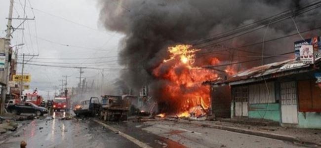Filipinlerde şiddetli patlama