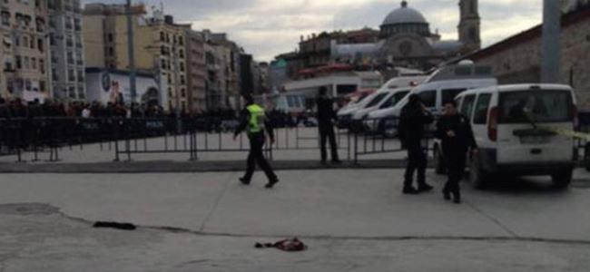 Taksimde polis noktasına saldırı