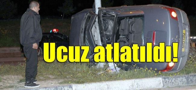 Lefkoşa-Girne Anayolu'nda korkutan kaza
