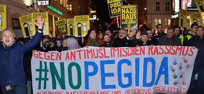 Avusturyada PEGİDA protestosu
