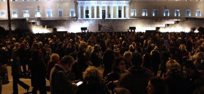 Tsiprasa destek gösterisi yapıldı