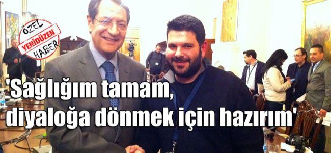 Anastasiadis Kıbrıslı Türk gazetecileri kabul etti