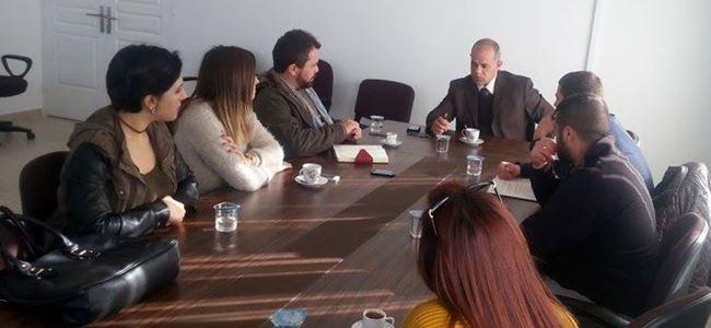 Gençler, Lefke Belediye Başkanını ziyaret etti