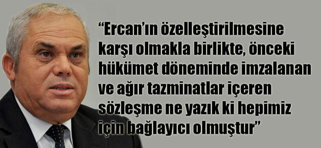 Başbakan Yorgancıoğlu Ercanla ilgili konuştu