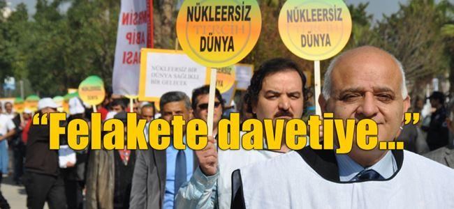Tabipler, nükleer santrale karşı eylem yaptı