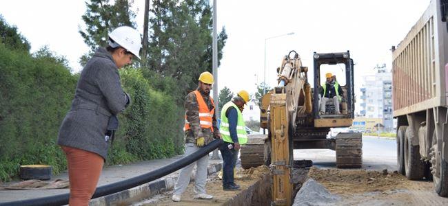 Haydar Aliyev Caddesi kanalizasyon sistemine bağlanıyor