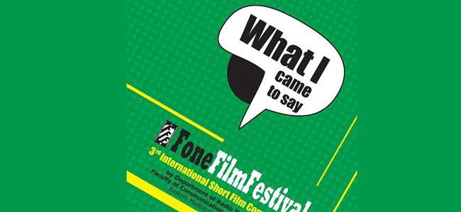 3. Fone Film Festivali için hazırlıkları başladı