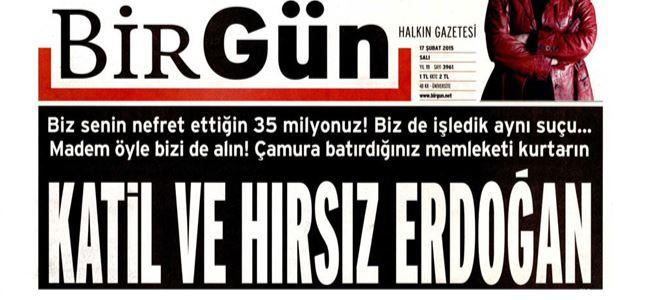 Erdoğan'dan BirGüne suç duyurusu