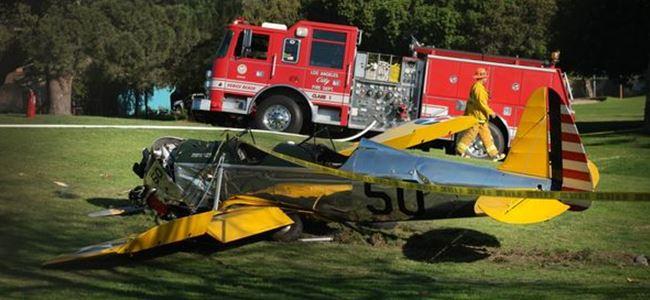 Harrison Fordun kullandığı uçak düştü