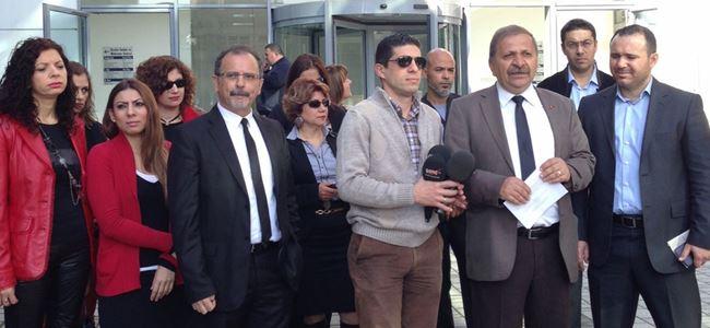 KTAMS Vergi Dairesi önünde basın açıklaması yaptı