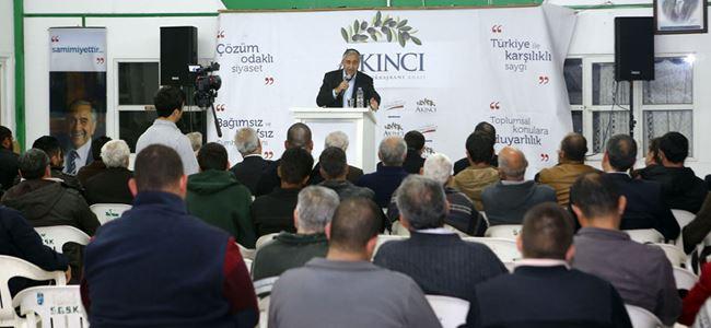 Akıncı Sütlüce'de düzenlenen bölge toplantısına katıldı.