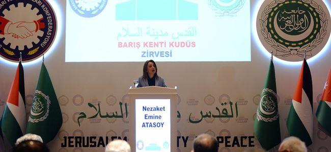 Barış Kenti Kudüs Zirvesi Ankarada yapıldı