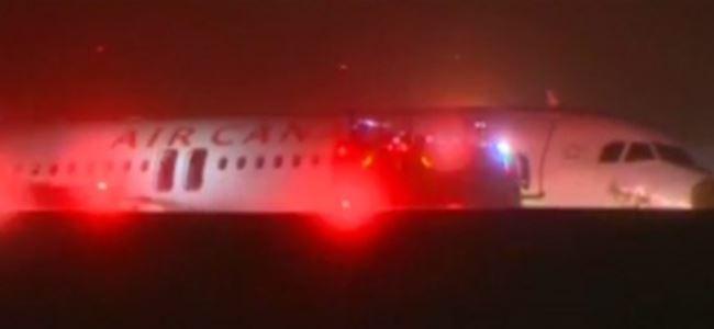 Kanadada yolcu uçağı pistten çıktı