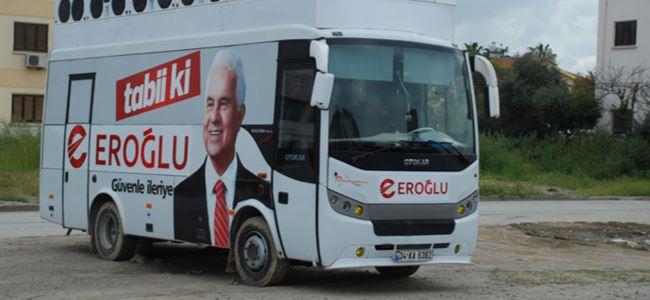 Eroğlu'nun seçim otobüsü İstanbuldan