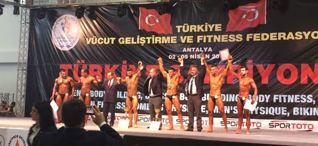 Vücut Geliştirme'de Antalya'da derece