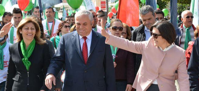 CTP'den Güzelyurt'ta şenlikli yürüyüş