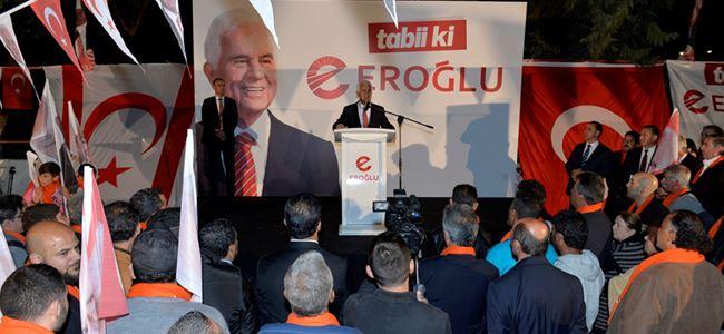 Eroğlu, seçim çalışmalarını Lefke'de sürdürdü