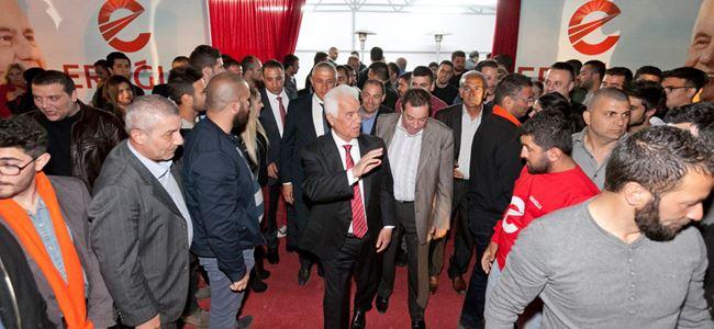 Eroğlu, seçim ofislerini ziyaret etti